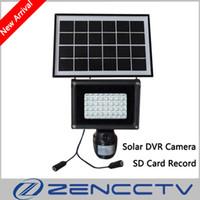 mini projecteur achat en gros de-Lampe solaire 720P Mini DVR Camera avec carte SD de 8 Go 40pcs LED Floodlight PIR Enregistrement de détection de mouvement vidéo HD CCTV Security