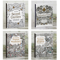Wholesale Postcard Books - Coloring Books Postcard 30pcs Kids Adult Tropical Wonderland Secret Gardern Relieve Stress Decompression Painting Books 30 pcs set 142*172mm