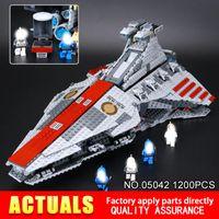 Wholesale Building Class - 1218Pcs Lepin 05042 Venator-Class Republic Attack Cruiser Model Building Blocks Bricks Toys for Children Gift 8039