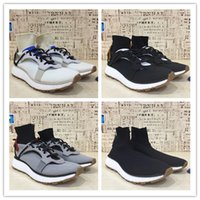 Wholesale Rubber Table Socks - New Wang AW Run Clean All White Solid Grey Core Black BOOST For Men&Women Sock Trainer High Quality Alex and x Running Shoes size 40-45
