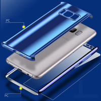 Wholesale mirror protection covers resale online - Luxury Plating Mirror Case Full Body Protection Cover Electroplate PC with Free Screen Protector for Iphone X Samsung S9