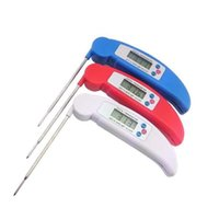 Wholesale indoor electronic display resale online - A new high precision probe type portable folding kitchen display electronic barbecue food BBQ thermometer