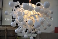Moderno Crystal Murano Glass Chandelier Pendurado Ceiling Light Frosted White Color Chihully Style Murano Glass Italian Chandeliers