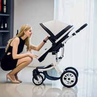 Wholesale High Baby Strollers - Strollers Foldable Pram Baby Stroller High Landscape High Landscape Sit and Lie Baby Carriage For Newborn Infant Four Wheels B