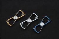 alça de dedo venda por atacado-Frete grátis, 8 clip finger spinner com rolamento de esferas 420 alça de aço ferramenta exterior EDC