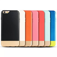 Wholesale Slim Case Iphone Free - for iPhone6 plus super slim case plastic case with good design two color two pieces design free shipping