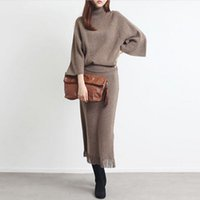 Wholesale Warm Women Sweaters - Wholesale-New Autumn Winter 2016 European Sweater Dress Women Fashion High-necked Sweater Female Pullover Knit Tassel Slit Warm Sweater