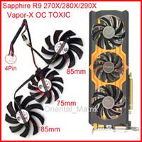 силовые логические вентиляторы оптовых-Wholesale- 3pcs/Lot POWER LOGIC PLD09210D12HH PLD08010S12HH DC12V 4Pin For Sapphire R9 270X 280X 290X Vapor-X OC TOXIC Graphics Card Fan
