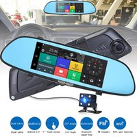 Wholesale Ambarella Dual - New High Quality HD 1080P 7'' Car DVR Video Recorder G-sensor Dash Cam Rearview Mirror Camera DVR Free Shipping