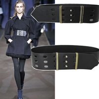 Wholesale Decoration For Belts - Wholesale- Europe fashion runway female wide girdle decoration for women leather belts coat dress accessories wild waistband brand design