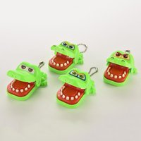 Wholesale Plastic Mouth Gag - Wholesale-2016 Hot Sale Creative Funny Gags Toy Children Kid Crocodile Mouth Dentist Bite Finger Game Wholesale Random color