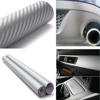 Wholesale vehicle decal wraps - Car-styling 200cm x50cm 3D Carbon Fiber Vinyl Wrap Film Motorcycle Car Vehicle Stickers And Decals Sheet Roll Car Accessories