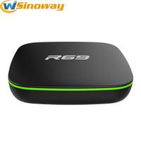 Wholesale Iptv Set Top Box Hd - Android Iptv Set Top Box R69 4.4 Systerm Allwinner H2 Quad-Core 1GB RAM 8GB ROM 4K Built in Wifi Streaming Media Player