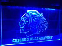 Wholesale Hockey Neon Light - LD082b- Chicago Blackhawks Hockey LED Neon Light Signs