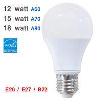 Led Energy Star for sale - B22,E26,E27 Edison Screw 12W 15W 18W LED Energy Star A60 A70 A80 Aluminium Bulb, White