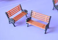 Wholesale Wholesale Bench Chairs - Wholesale- 1:150 HO Scale Park Garden Bench Model Landscape Scenery abs plastic model chairs