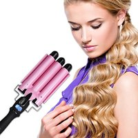 Curling Curling Iron Curling Wands Hair Curler Tourmaline Crematura dei capelli in ceramica lunga 3 barilotto Waver Caldo istantaneo Hot Curler Deep Waver