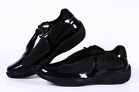 ingrosso scarpe britanniche per le donne-Nuove donne di arrivo Casual Scarpe casual Moda britannica Scarpe Ragazze in pelle verniciata con mesh Scarpe traspiranti per Lady Black Color 36-41