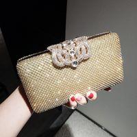 Wholesale Clutch Bags Shinny - Shinny Bling Diamonds Gold Silver Bridal HandBags 2017 Hot Sale Fashion Crown Women Clutch Bags For Party Evenings Formal EN8052
