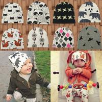 Wholesale Toddler Boys Crochet Hat Patterns - Fashion Unisex Cute Toddler Kids Girl&Boy Baby Infant Winter Warm Crochet Knit Hat Beanie Cap Animal Pattern 20*20cm