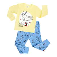 sueños de chicos al por mayor-2018 pijamas para niños establece Baby girl y boys clothes sweet dreams pijamas baby boys girls manga larga de dibujos animados T-shirt + Pants 2 unids