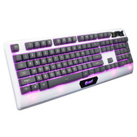 Wholesale Ghosting Computers - Free Shipping USB Backlight Gaming Keyboard Bule 3 Colors Fluorescent 104 Keys Backlit Anti-ghosting Keyboard for Computer PC Laptop