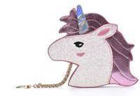 Wholesale New Design Fashion Unicorn Bag Symphony Skinnydip Wallet Hologram Purse The Harajuku Girl Heart Sister Horse Laser Retro Clutch Coin Purses