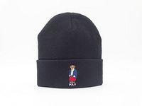 sombrero de punto de oso al por mayor-Dibujos animados de moda Oso polo Beanie Street Hip Hop Beanie Invierno Cálido sombrero Sombreros de lana de punto para mujeres Hombres gorro Bonnet Gorros Gorros venta al por mayor