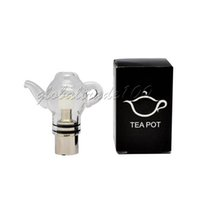 Wholesale Glass Teapot Double - Glass Globe Tank Atomizer Dry Herb Wax Vaporizer Skull Vase Teapot Calabash Double Deck Gourd Vhit Straight Tube Clearomizer