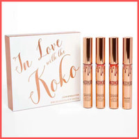 Wholesale New Color Lipstick - Free Shipping by ePacket New Arrival In Love with the Koko Liquid Lipstick Koko KOLLECTION 4pcs set By Cosmetics