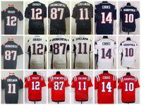 Wholesale Cheap Red Football Jerseys - 2017 New Rush Legend Elite 12 Tom Brady Jersey 11 Julian Edelman 87 Rob Gronkowski 10 Jimmy Garoppolo 14 Brandin Cooks Jerseys Cheap