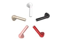 Wholesale Wholesale Small Earphones - Mini HBQ i7 Bluetooth Mono Earphones Handsfree True Wireless Headsets Small in Ear Earpiece with Mic for iPhone Android 5 Colors with Box