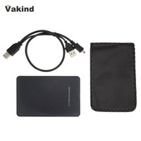 "Wholesale High Quality Hard Disk - Black External Enclosure for Hard Drive Disk USB 2.0 SATA HDD Portable Case 2.5"" Inch Support 2TB Hdd Hard Drive High Quality"