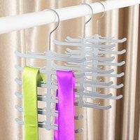 Wholesale Scarf Tie Hanger - New Non-Slip Scarf Tie Rack Tie Hanger Metal Hook 12 Bar Neck Ties Organizer