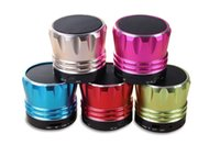 Wholesale Small Music Speakers Usb - Portable Mini Bluetooth Speaker Wireless Speakers Stereo Small S28 Metal Subwoofer Sd Card for Mobile Phone Mp3 Pc Music Player