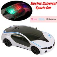 Wholesale Sound Box For Cars - Wholesale- 1:24 RC Car Electric Plastic Model Toys 3D Flashing i8 Car Sound Light Universal Emulation Sport Concept Car Toys For Children