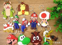 Wholesale Super Mario Shoes Kids - Wholesale New cartoon Super Mario Sided Soft decoration accessories Shoe Charms Flat PVC DIY Gadgets Novelty kids gifts