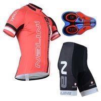 Wholesale Nalini Jersey Set - Summer Cycling clothing NALINI team cycling jersey (bib)shorts sets Ropa Ciclismo Quick-Dry Sportwear 9D GEL Pad Bicycle clothing A133