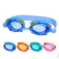 мультфильм плавать очки оптовых-2017 дети дайвинг очки вода подводный дайвинг оборудование мультфильм краб детские очки HD водонепроницаемый плавание очки C2020