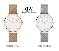 Wholesale Wrist Watches Red Belt - hot high quality Women gold watched Stainless steel 32mm Fashion dw watches women Luxury Brand Quartz Wrist watch female Clock orologi donna