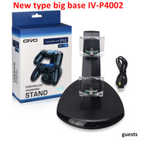 2017 NUEVA Base grande para Xbox One Playstation LED Cargador USB Dual Dock Mount Soporte Carga de Stand para PS4 Gamepad inalámbrico Game Controllers