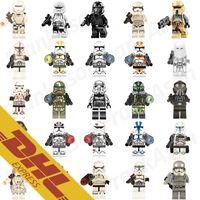 Wholesale Clone Troopers - 100pcs lot Star Wars Clone Trooper Figures Storm Trooper Stormtrooper Deathtrooper Shoretrooper Sandtrooper Mini Building Blocks Figures