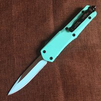 Wholesale Blue Knifes - Grady Fung Brand Design GFT02 Troodon Knife Double Edge Blade Tactical Camping Combat Knife Blue Color EDC Hand Tool Knife