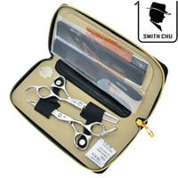 лучшие ножницы для стрижки волос оптовых-6.0 дюймов Смит Чу JP440C лучшие ножницы парикмахерские ножницы набор профессиональный салон резки истончение ножницы для дома или салона, LZS0077