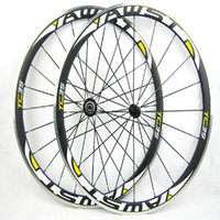 Wholesale 18 Inch Alloy Wheels - AWST 700C alloy carbon wheelset 23 25mm road clincher wheels 20 24H aluminum carbon wheels with alloy basalt brake surface free shipping