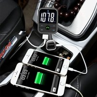 Wholesale Charger Set Kit Micro Usb - Universal Bluetooth FM Transmitter MP3 music Player Car Kit Handsfree Set 5V 2.1A Dual USB Car charger Support Micro SD Card 32G