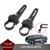 "Wholesale Roll Bar Clamp - Wholesale-1.25"" Aluminum Bull Bar Clamps Mount Bracket Fit Round Tube Bull Bar Roll Cage Bumper Light Bar for ATV Car Truck Pickup Offroad"