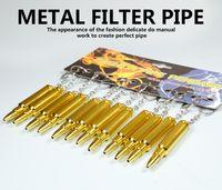 Wholesale Product Keys - 80MM Metal Smoking Pipe Bullet Key Ring Shape Unique Aluminum Metal Filter Pipe Export Quality Product VS Sharpshone