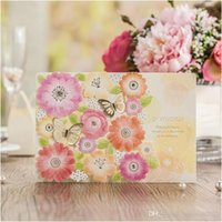 Wholesale Garden Invitations - Creative Butterfly Invitation Cards for Wedding 2017 Personalized Printing Garden Laser Cut Flower Bridal Invitations Casamento
