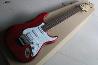 Wholesale Custom Electric Guitar Bridge - China guitar factory custom New ST red Scalloped Fingerboard Big Head Electric Guitar Floyd Tremolo Bridge free shipping 914